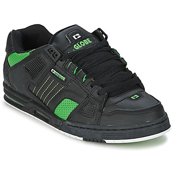 Shoes Men Low top trainers Globe SABRE Black / Green