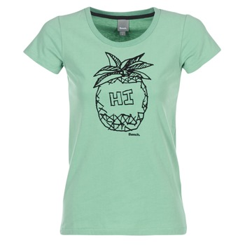 material Women short-sleeved t-shirts Bench BLWG002642 Green