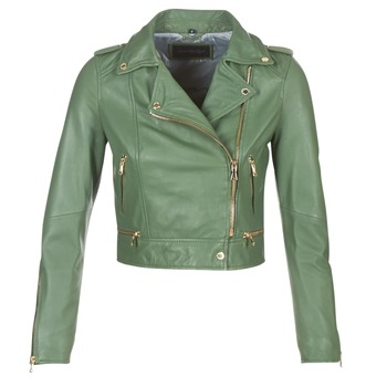 material Women Leather jackets / Imitation leather Oakwood YOKO Kaki