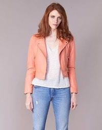 material Women Leather jackets / Imitation leather Oakwood YOKO Coral