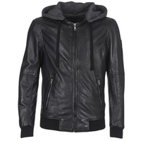 material Men Leather jackets / Imitation leather Oakwood JIMMY Black