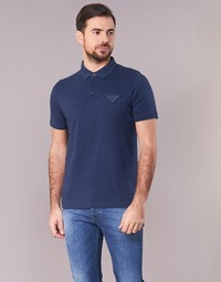 material Men short-sleeved polo shirts Casual Attitude ITATATO Blue