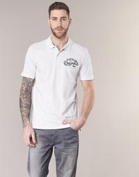 material Men short-sleeved polo shirts Jack & Jones JORTRAST White