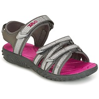 Shoes Girl Sandals Teva TIRRA Silver / Magenta