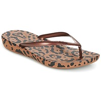 Shoes Women Flip flops FitFlop IQUSHION ERGONOMIC FLIP-FLOPS Bronze / Mix / Leopard / Print