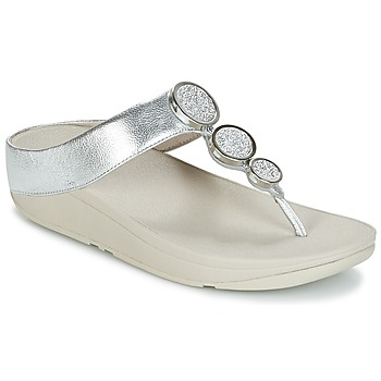 Shoes Women Flip flops FitFlop HALO TOE THONG SANDALS Silver