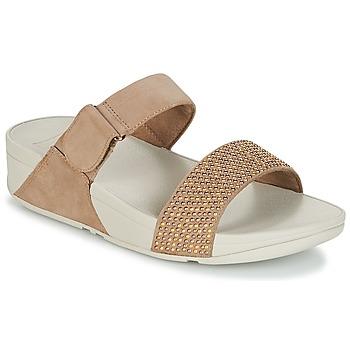 Shoes Women Mules FitFlop LULU POPSTUD SLIDE SANDAL Beige