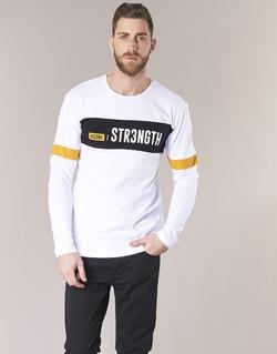 material Men short-sleeved t-shirts Jack & Jones JCOACE-TEE-LS-CREW-NECK White