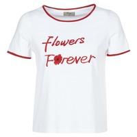 material Women short-sleeved t-shirts Betty London INNATIMBI White / Red