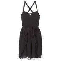 material Women Short Dresses Naf Naf LENY R1 Black