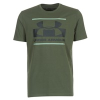 material Men short-sleeved t-shirts Under Armour BLOCKED SPORTSTYLE LOGO Kaki