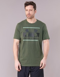 material Men short-sleeved t-shirts Under Armour BLOCKED SPORTSTYLE LOGO Kaki