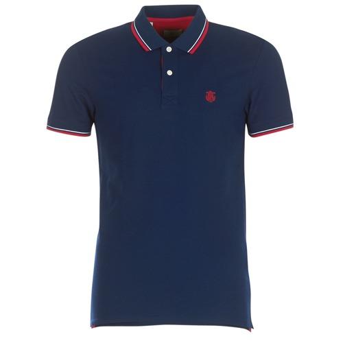 material Men short-sleeved polo shirts Selected SLHNEWSEASON Marine