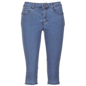 material Women cropped trousers Vero Moda VMHOTSEVEN Blue