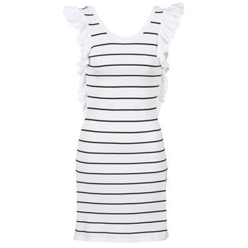 material Women Short Dresses Vero Moda VMABHY White / Black