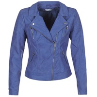 material Women Leather jackets / Imitation leather Only STEADY Blue