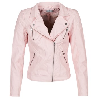material Women Leather jackets / Imitation leather Only STEADY Pink