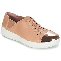 db031cadeff Shoes Women Low top trainers FitFlop F-SPORTY MIRROR-TOE SNEAKERS Nude