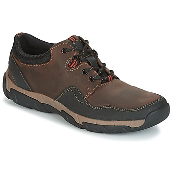Shoes Men Low top trainers Clarks WALBECK EDGE Brown / Leather