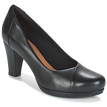 Shoes Women Court shoes Clarks CHORUS CAROL  black / Leather