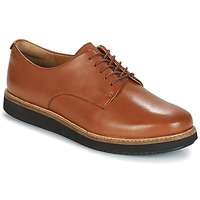 Shoes Women Derby shoes Clarks GLICK DARBY Dark / Tan / Lea