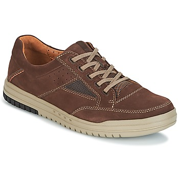 Shoes Men Low top trainers Clarks UNRHOMBUS GO Dark / Brown / Nub