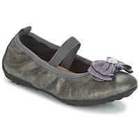 Shoes Girl Ballerinas Geox J PIUMA BALLERINES Grey