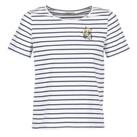 material Women short-sleeved t-shirts Betty London INNAMOU White / Marine