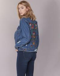 material Women Denim jackets Only BECKY Blue / Medium