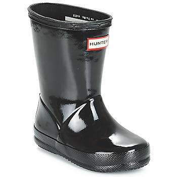 Shoes Girl Wellington boots Hunter KIDS FIRST CLASSIC GLOSS Black