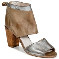 Shoes Women Sandals Moma GANGE Silver / Brown