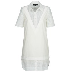 material Women Short Dresses American Retro CHARLOTTE White