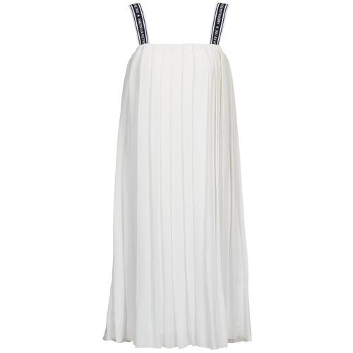 material Women Long Dresses American Retro VERO LONG White