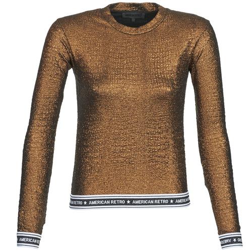 material Women Long sleeved shirts American Retro ALLAN Gold