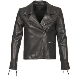 material Women Leather jackets / Imitation leather American Retro LEON JCKT Black