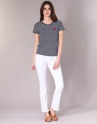 material Women bootcut jeans Yurban IALOLAO White