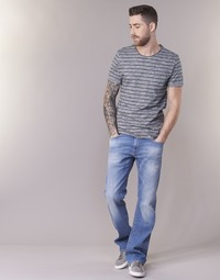 material Men bootcut jeans Yurban IGERAL Blue / Clear