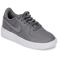 Shoes Girl Low top trainers Nike AIR FORCE 1 PRE-SCHOOL Grey / Silver