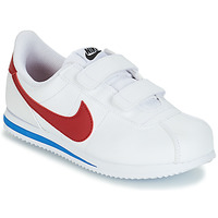 Shoes Boy Low top trainers Nike CORTEZ BASIC PRE-SCHOOL White / Blue / Red