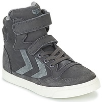 Shoes Children High top trainers Hummel STADIL OILED HIGH JR Grey