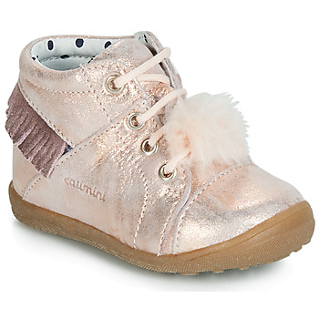 Shoes Girl High top trainers Catimini PEPITA Vte / Pink / Powder