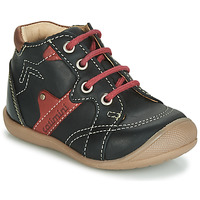 Shoes Boy High top trainers Catimini GASTON Black / Red