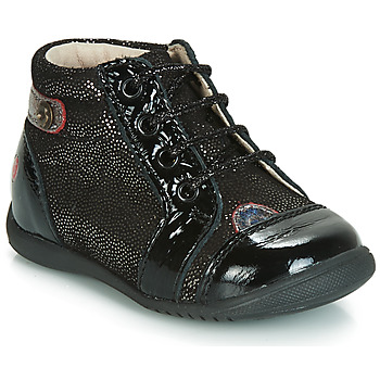 Shoes Girl High top trainers GBB NICOLE Black / Glitter