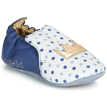 Shoes Girl Slippers Catimini CHIQUETTE Blue / White