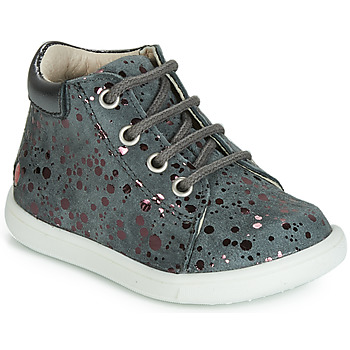 Shoes Girl High top trainers GBB NICKY Vte / Gray spots / Pink / Messi