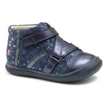 Shoes Girl High top trainers GBB NICOLETA Vte / Navy spots