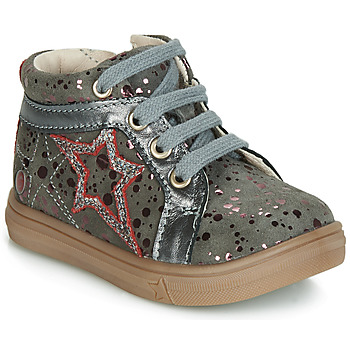 Shoes Girl High top trainers GBB NAVETTE Vte / Gray spots / Pink