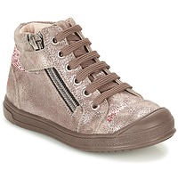Shoes Girl High top trainers GBB DESTINY Taupe / Bronze