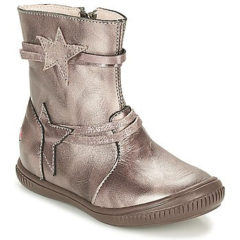 Shoes Girl Mid boots GBB NOTTE Taupe / Bronze