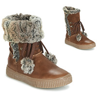 Shoes Girl Boots GBB NOUSTIK Vte / Brown
